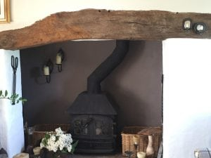 Inglenook cottage simple woodburner