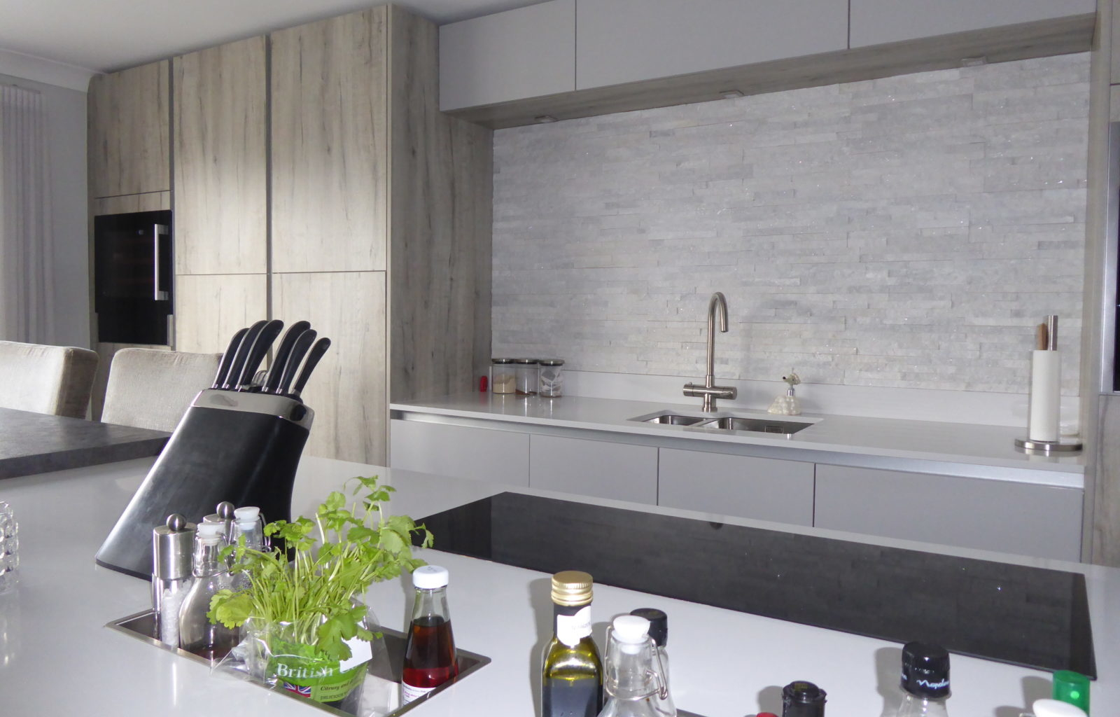 Kitchen, Texture, Wood effect, Minimal, Split Mosaic tiles, Stylish
