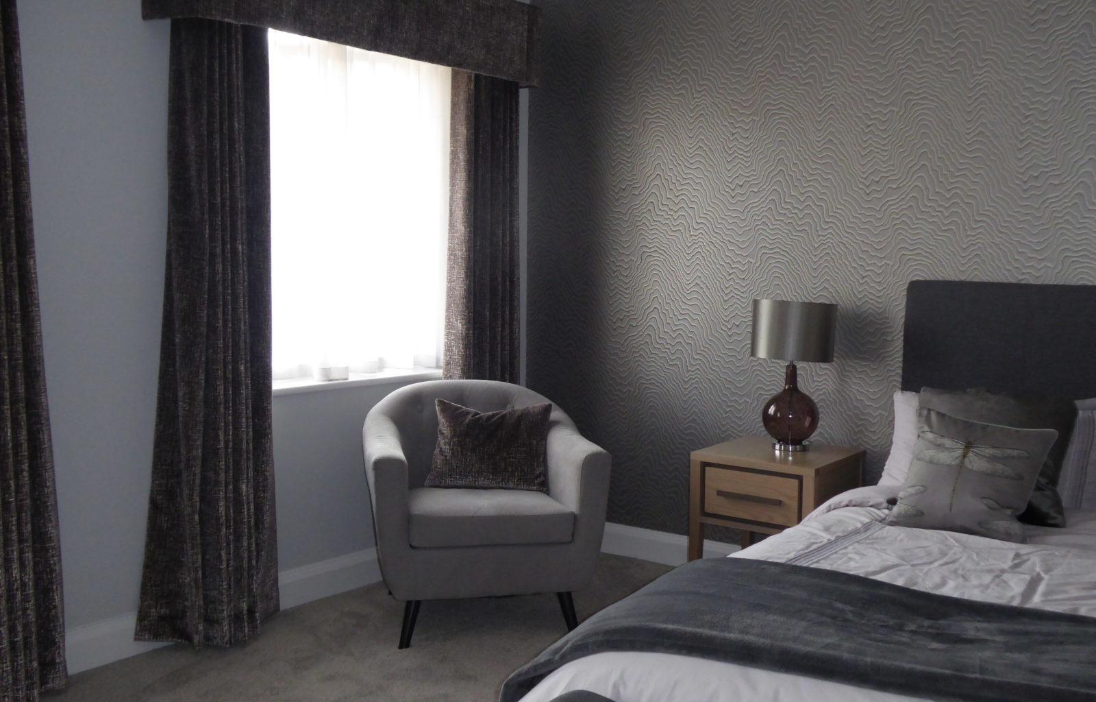 Soft Furnishings, Elegance, Flatbourd Pelmet, wave curtains