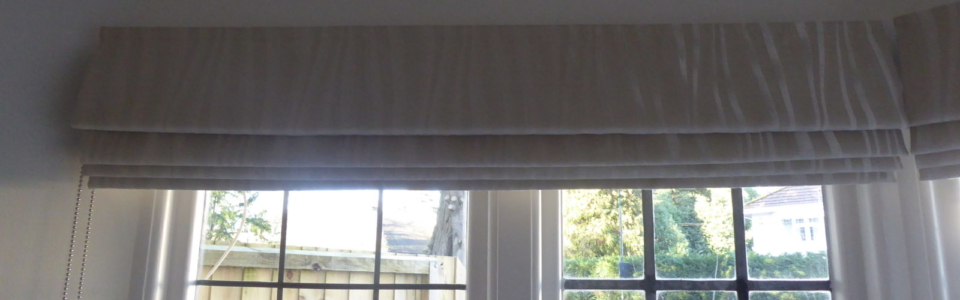 Roman Blind, Neutral fabric