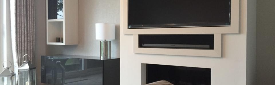 Lounge, Modern, Storage, High Gloss, Fire Place,